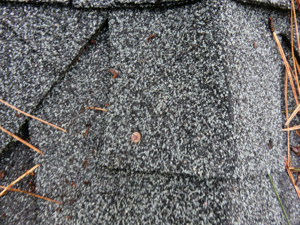 Nails, screws, and other fasteners in the roofing material should be sealed periodically to prevent backing out of the fastener and leakage